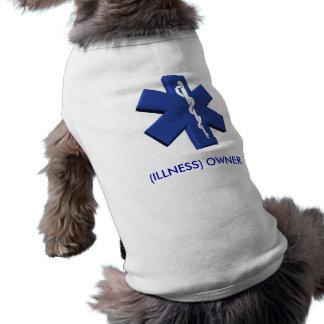 自身の単語への医学的な緊急事態犬のワイシャツ変更 ペット服