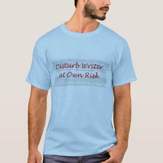 自身の危険のTシャツで作家を妨げて下さい Tシャツ
