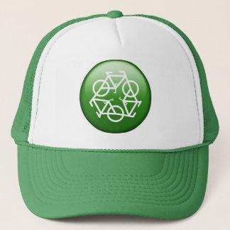 自転車とのリサイクルのロゴ キャップ