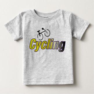 自転車によって循環 ベビーTシャツ