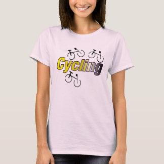 自転車によって循環 Tシャツ