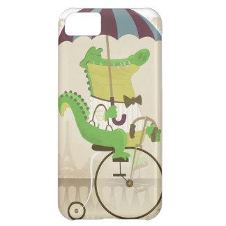 自転車に乗っているわに iPhone5Cケース