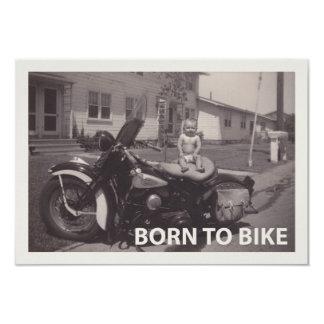 自転車に乗るために生まれて下さい 8.9 X 12.7 インビテーションカード
