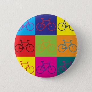 自転車に乗るポップアート 缶バッジ