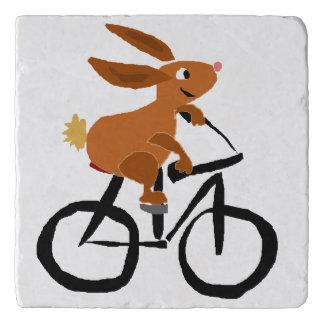 自転車のおもしろいなバニーウサギ トリベット