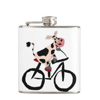 自転車のおもしろいな牛 フラスク