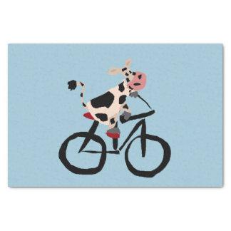 自転車のおもしろいな牛 薄葉紙