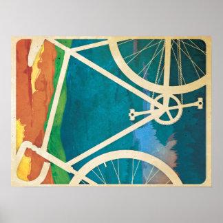 自転車のアートワーク-半光沢ポスターペーパーバイクNY ポスター