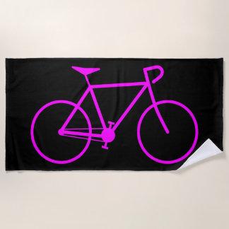 自転車のシルエット ビーチタオル
