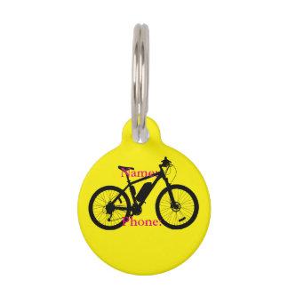 自転車のシルエット ペット ネームタグ