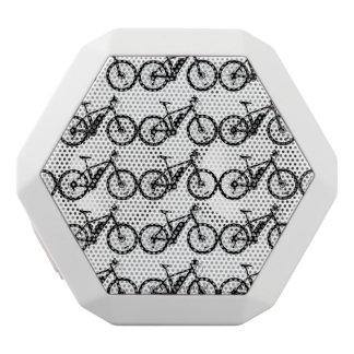 自転車のシルエット ホワイトBluetoothスピーカー
