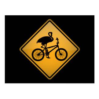 自転車のフラミンゴ ポストカード