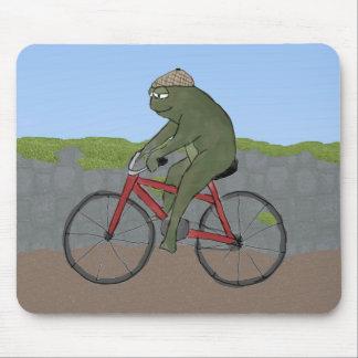 自転車のマウスパッドの紳士のカエル マウスパッド