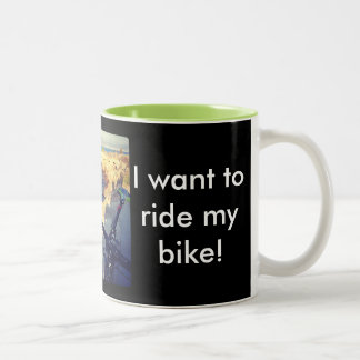 自転車のマグ ツートーンマグカップ
