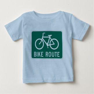 自転車のルートの乳児のTシャツ ベビーTシャツ