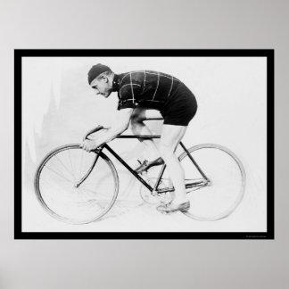 自転車のレーサー、ノルマン人アンダーソン1914年 ポスター