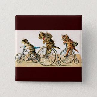 自転車の乗車 缶バッジ