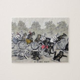 自転車の乗馬猫 ジグソーパズル