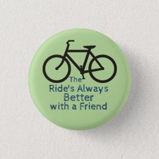 自転車の友人ボタン 缶バッジ