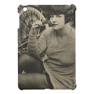 自転車の女の子のヴィンテージの写真 iPad MINI CASE