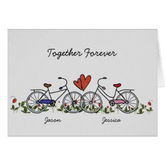 自転車の恋人はバレンタインカードをつなぎます グリーティングカード