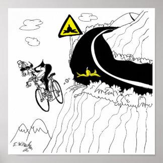 自転車の漫画9334 ポスター