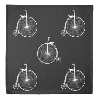 自転車の白 掛け布団カバー