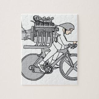 自転車の自動車に乗ること ジグソーパズル
