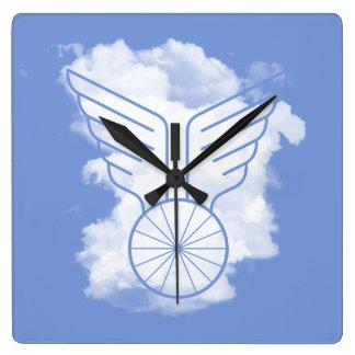 自転車の自由 スクエア壁時計