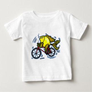 自転車の魚(バイク) ベビーTシャツ