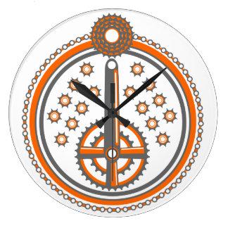 自転車は絵パターンを分けます ラージ壁時計