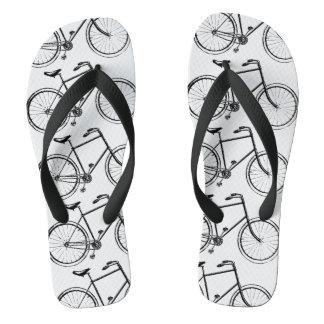 自転車パターン ビーチサンダル