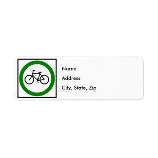 自転車交通ハイウェーの印 ラベル
