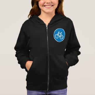 自転車道の印の女の子のフード付きスウェットシャツ パーカ