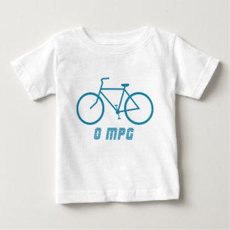 自転車0 MPGの乳児のTシャツ ベビーTシャツ