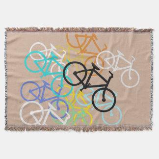 自転車。 あなた自身の背景色を使って スローブランケット