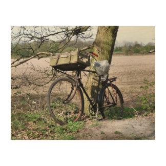 自転車 ウッドウォールアート
