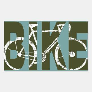 自転車。 バイク/素晴らしい循環 長方形シール