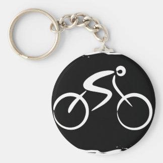 自転車 ベーシック丸型缶キーホルダー