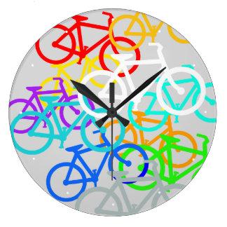 自転車 ラージ壁時計