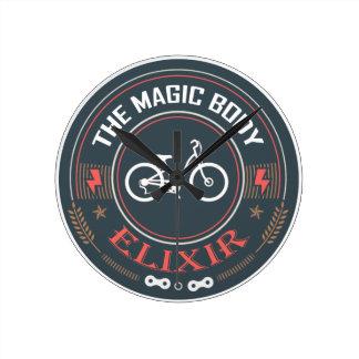 自転車、魔法の体のエリクシル ラウンド壁時計