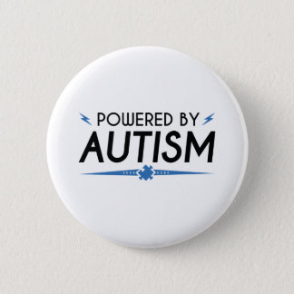 自閉症によって動力を与えられる 5.7CM 丸型バッジ