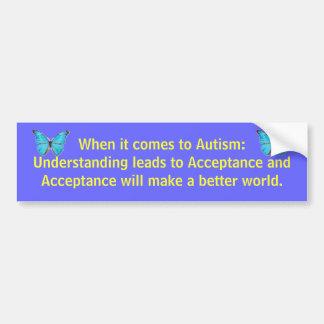 自閉症に関しては: 理解はに…導きます バンパーステッカー