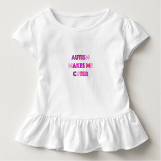自閉症のよりかわいい女の子のワイシャツ トドラーTシャツ