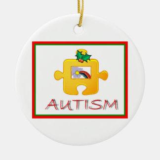 自閉症のクリスマスのオーナメント セラミックオーナメント