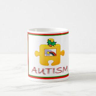 自閉症のクリスマスのマグ コーヒーマグカップ