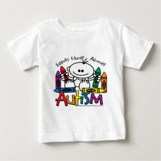 自閉症のクレヨン ベビーTシャツ