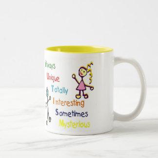 自閉症のコーヒー・マグ ツートーンマグカップ