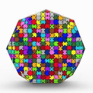 自閉症のジグソーパズル 表彰盾