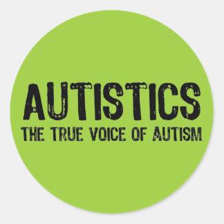 自閉症のステッカーの声 ラウンドシール